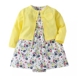 Printed Bibosa Infant Cotton Dress