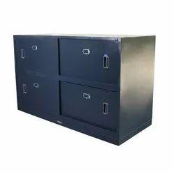 Mild Steel Blue Currency Bin Cabinet, For Office