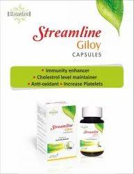 Streamline Giloy Capsule, Capsules, Grade Standard: Medicine Grade