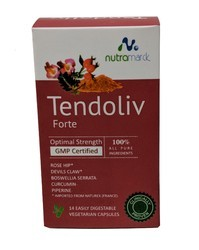 Tendoliv Veg Caps (Rosehip Extract, Boswellia Serrata, Devil's Claw, Curcumin) Imported From France, 1 X 14
