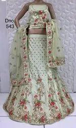 Party Wear Lehenga Choli In Floral Print Design