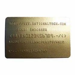 GOLDEN EMBOSSED CARDS