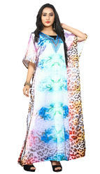 Women''s Party Wear Digital printed Kaftans Kurtas