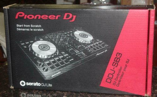 Black Pioneer DDJ-SB3 2-Channel DJ Controller For Serato DJ Lite