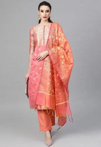 Ladies Banarasi Silk Suits