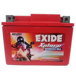 Exide Xplore Motorcycle Battery, XLTZ4, 12 V to 24 V