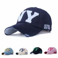 4885d977f7554b Novasox Beige , Navy Blue & Sky Blue Air Force New York Ripped Baseball Cap