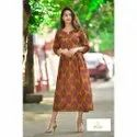 Indian Handmade Cotton Floral Printed Designer Kurtis