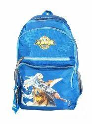 Printed Blue  School Bag