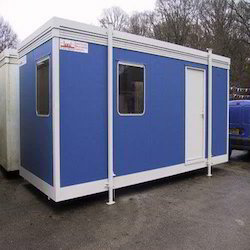 Blue Portable Security Cabin