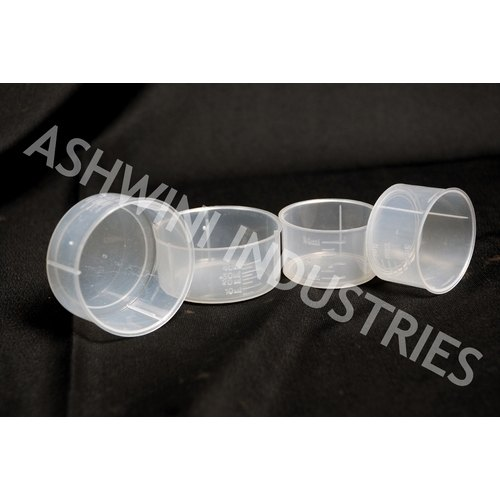 Ashwini Industries Plastic Measuring Cups, Capacity: 5 Ml To 30 Ml, For Chemical Industries
