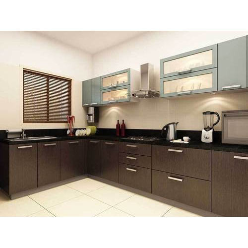 Contemporary L Shaped Kitchen Designs: Modern L Shape Modular Kitchen, एल आकार की मॉड्यूलर रसोई