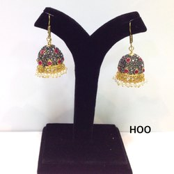 Fancy Superior Quality Beaded Pearl Jhumkas, Packaging Type: Box