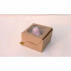 2 Cavity Brown Cloud Window Cupcake Box