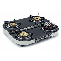 Stainless Steel 4 Burner Cook Top Stove