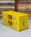 Yellow Container Style Industrial TV Cabinet