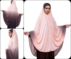 Long Stitched Ready To Wear Women Prayer Makhna Hijaba Scarf Abaya