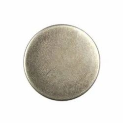 Metal Round Plain Jeans Button, Packaging Type: Packet