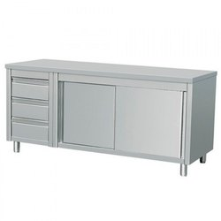 Stainless Steel Work Table With Cabinet and Drawer