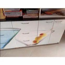 Rectangular Wooden Kitchen Storage Cabinet