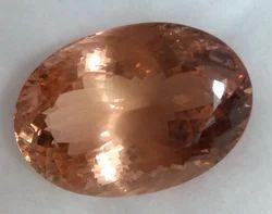 Brown Oval Morganite Stone