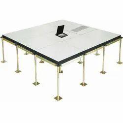 Square Raised Floors - Bare Steel Panels Screw Down, For Office Flooring