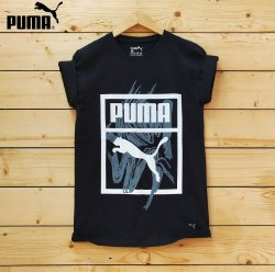 puma Printed Mens Cotton Branded T Shirts, Size: XL