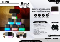 FUZO Baux Bluetooth Speaker with Mobile Stand & Desk Light - TGZ-387