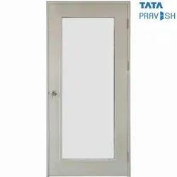 Hinged Tata Pravesh Full Glass Commercial Door, Thickness: 0.046 M (oDor)