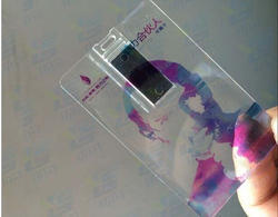 Printed Transparent Card Pen Drive