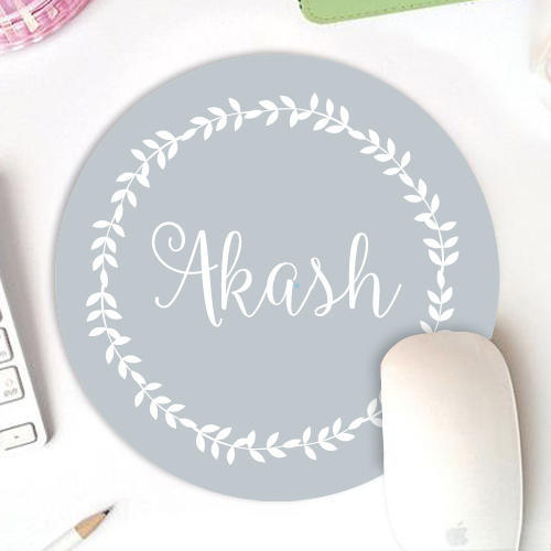 personalized circular mouse pad printed name at rs 349 piece