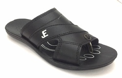Black PU Gents Slipper, Size: 6-10