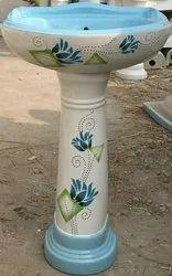 Koalar Ceramic Vitrosa Pedestal Wash Basin, For Bathroom