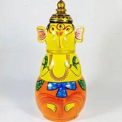 Wooden Ganesha Money Bank, Packaging Type: Box