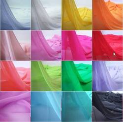 Plain Polyster Georgette Fabric, Use: Dupatta, Saree, Suit