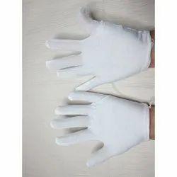 White Knitted Hand Gloves