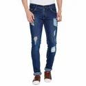 Stylox Blue Retro Damage Jeans, Yes