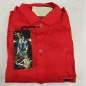 Plain Mens Cotton Red Shirt