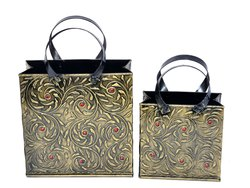 Iron Brass Finish Decorative Flower Basket Set Decorative Items Home Decor Decorative Showpiece