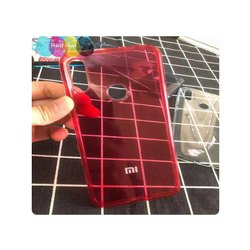 TPU Red Redmi Note5 Transparent Back Mobile Cover For Mobile Protection