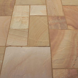 Buff Sandstone, for Flooring, Thickness: 0-25 Mm