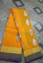 Silk Uppada Pattu Sarees, Hand Made, 5.5 M (separate Blouse Piece)