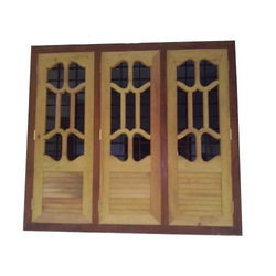 Brown Designer Wooden Window