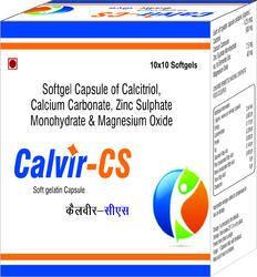 Softgel Capsule of Calcitriol Calcium Carbonate Zinc Sulphate Monohydrate and Magnesium Oxide