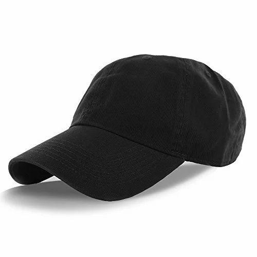 14c6fea3bb6 Cotton Black Mens Plain Cap