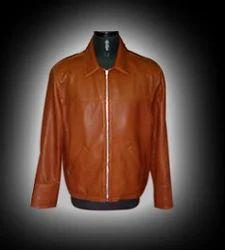 Tan Leather Men Sheep Oily Veg Jacket 2459