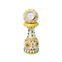 Piiler Clock Red Green Stone