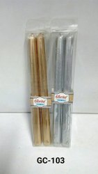 GC-103 Golden / Silver Taper Candles (2 Pc / Pkt)