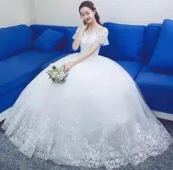 Christian Wedding Gowns Catholics Wedding White Ball Dress D331