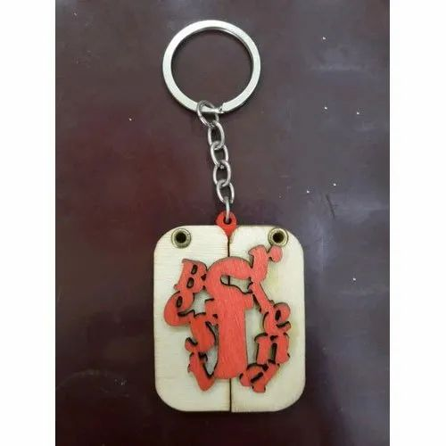 Mdf And Stainless Steel MDF Sublimation Key Chain, For Key Holding